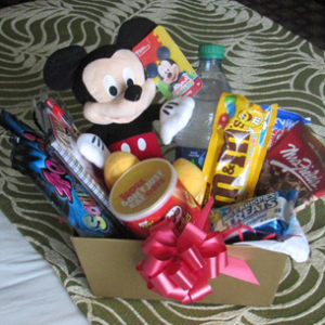 Little Mickey with candy