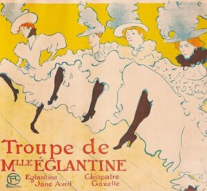 "Henri Toulouse-Lautrec's ""Troupe do Mlle Ellegantine"" on display at the Polk Museum of Art in Lakeland, Florida now until May 23, 2021."