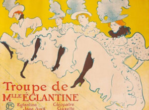 """Henri Toulouse-Lautrec's """"Troupe do Mlle Ellegantine"""" on display at the Polk Museum of Art in Lakeland, Florida now until May 23, 2021."""