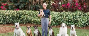 Mr. Rosen and his Dogs